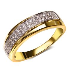 Find More Rings Information about Brand wedding jewelry ring 2 Tones real gold & platinum plated barss finger rings for women cubic zirconia free shipping,High Quality ring cast,China jewelry ring storage Suppliers, Cheap jewelry jump ring from HY Fashion Jewelry on Aliexpress.com