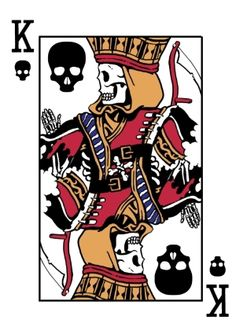 King of Death by Peter Donahue  | more here: http://playingcardcollector.net/2014/11/21/playing-cards-by-peter-donahue/