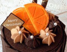 Felt play foodDIY felt Chirismas Sweets Chocolate by fairyfox