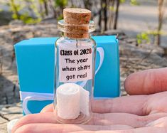 GRADUATION GIFTS Wedding Favors For Guests, Unique Wedding Favors, Unique Weddings, Holiday Cards, Holiday Gifts, Gifts For Women, Gifts For Her, Message In A Bottle, Class Of 2020