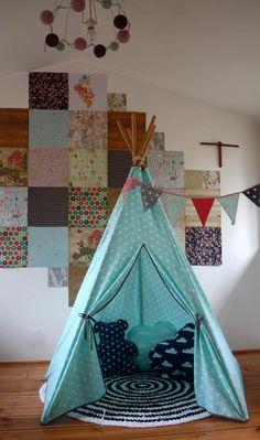 #pacztipi #pacz #teepee #tipi #wigwam #tent #crochet #pillows #stars #clouds #radosnafabryka #handmade Hanging Chair, Kids Room, Room Decor, Cool Stuff, Cotton, Furniture, Home, Cool Things, Home Decor