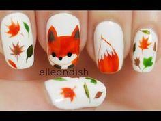 What does the fox say Nailart tutorial! Adorable! #red #fox #animalprint #dall #tutorial #howto #nails #nailart #nailpolish #polishaddict - bellashoot.com