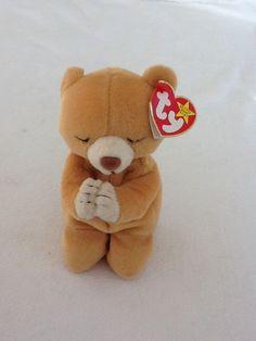 RETIRED TY BEANIE BABY 1998 HOPE THE PRAYING BEAR #Ty