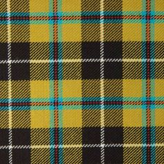 CORNISH NATIONAL (Saffron) GL067 100% Wool 10.5oz Tartan. Woven in Yorkshire by Marton Mills. Wool Fabric, Design Show, Yorkshire, Tartan, Swatch, Weaving, Coding, Pure Products, Quilts