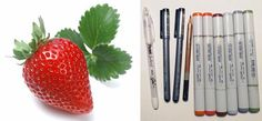 Coloring Strawberries with Copic Markers