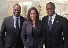 59th Mayor of Atlanta, Georgia, Kasim Reed, Double Howard University Alum (B.A., '91; J.D., '95); 32nd Attorney General of California, Kamala Harris, Howard University Alum (B.A., '86); 17th President, Howard University, Wayne A.I. Frederick, Triple Howard University Alum (B.S.'92; M.D.'94; M.B.A.'11) #BlackHistory #HowardUniversity #HBCU #BlackHistory