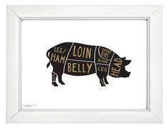 Pork Butcher Print by Old English Co.