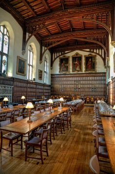 Dining hall, Magdalen College Oxford, UK