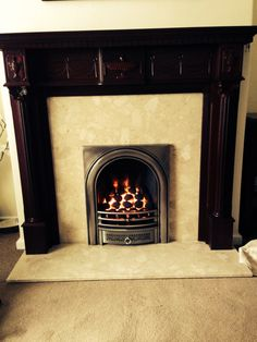 New gas fire into existing fireplace