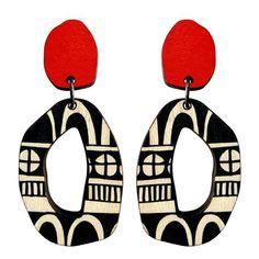 Eco friendly patterned earrings