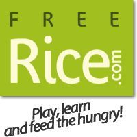 HEALTH/FOOD SOLUTION: play an online game and for each correct answer, 10 grains of rice are donated through the World Food Program to end hunger