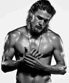 Charlie Hunnam aka Jax...all it took was this ONE picture...now he is Christian Grey?!? OMG...I can't *fans self*