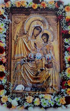 Icoana Maica Domnului Orthodox Icons, Virgin Mary, Madonna, Jesus Christ, Saints, Flowers, Inspiration, Painting, Art
