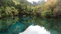 Mirror Lake in Jiuzhaigou Valley National Park