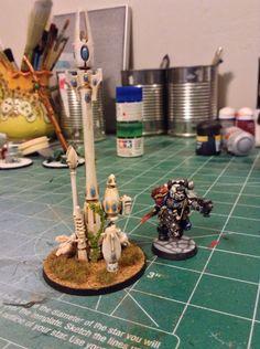 40k Eldar Objective marker, unidentified relic. Warhammer Terrain, 40k Terrain, Warhammer Eldar, Fortification, Deep Blue, Minis, Markers, Modeling, Buildings