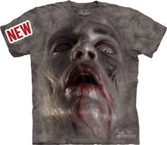 Zombie Face Walking Dead Authentic The Mountain Adult T-Shirt - ZombieMerc