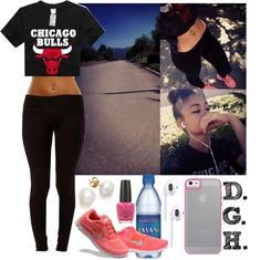 """Run."" by dopegenhope ❤ liked on Polyvore dope outfit, dope cloth, outfit idea, style, sexi workout, fall fashion, polyvore, fashion killla, dopegenhop"