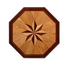 PID Floors 3/4 in. Thick x 36 in. Octagon Medallion Unfinished Decorative Wood Floor Inlay MT002-MT0021 at The Home Depot