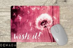 wish it! Office Accessories, Can Design, Mousepad, Vivid Colors, Quote, This Or That Questions, Pink, Quotation, Vibrant Colors