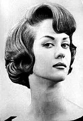 1940s Pageboy Hairstyle | ... fringe 1960s brunette bang hairstyle sixties coif coiffure pageboy