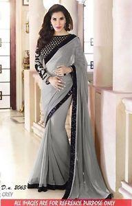 Indian Ethnic Designer Bollywood Traditional Bridal Party Wear Saree Sari Dress