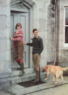 May 6, 1981: Prince Charles & his fiance, Lady Diana Spencer & their dog, Harvey at Craigowan Lodge on the Balmoral Estate. she wore this on several occasions prior to the wedding, never to be seen again after the wedding.
