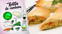 Rollitos de verdura - Receta de Karlos Arguiñano en Cocina Abierta - Hogarmania Snack Recipes, Snacks, Chips, Pasta, Food, Veggie Egg Rolls, Cooking Recipes, Healthy Diet Meals, Chinese Cuisine