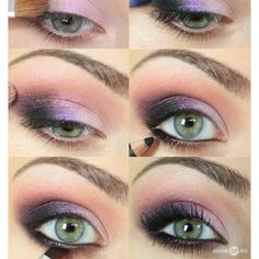 purple for green eyes