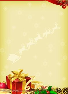 Christmas 3 FREE-Stationery Template Downloads | Stationary ...