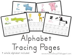 Printables: Alphabet Tracing Papers