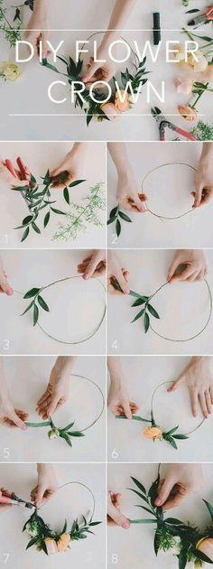 DIY coroa de flores