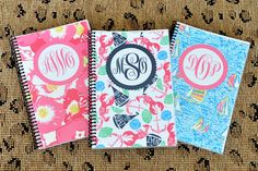 Monogrammed Lilly Pulitzer Inspired Journal by DixieDelightsBlog, $12.00 I love these, it would be wonderful to make a list in theses very night