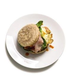 Egg Sandwich With Ham and Spinach | RealSimple.com
