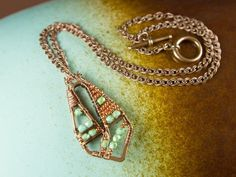 Greenberry Necklace Tutorial - Featuring Nunn Design frames wire-wrapped together.