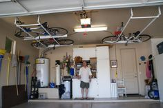 Garage ceiling storage overhead bicycle and cooler storage systems day garage ceiling storage economic great in having the diy solutioingenieria Choice Image