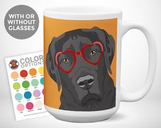 Labrador Retriever | Dog Coffee Mug | Coffee Mug Dog Gift | Funny Dog Mugs | Fiance Gift Idea | Girlfriend Gift Mug | Big Coffee Mug