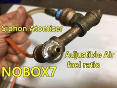 Waste Oil burner Siphon Atomizer Nozzle Build - YouTube