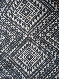 Thai handwoven Fabric, Tribal Fabric, Natural Cotton Fabric, Ethnic fabric - black white fabric, 5.69 yard, ready to ship. Dining room chairs