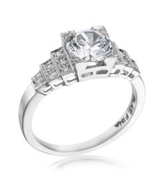 Michael C. Fina - Legacy Collection Platinum Triple Step Diamond Setting