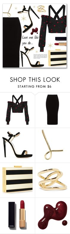 """""""Love me like you do..."""" by dressedbyrose ❤ liked on Polyvore featuring Proenza Schouler, Mat, Jimmy Choo, Jennifer Fisher, Valentino, Chanel, women's clothing, women, female and woman"""