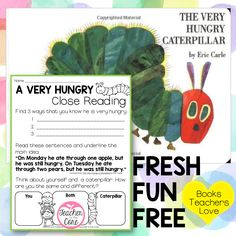 Teacher to the Core: The Very Hungry Caterpillar Listen and Respond- Close Reading