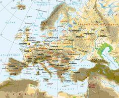 Carte politique de l'Europe