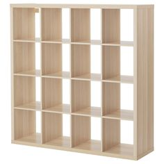 IKEA - KALLAX, Shelving unit, white stained oak effect, You can use the furniture as a room divider because it looks good from every angle. Ikea Kallax Shelving, Ikea Kallax Regal, Ikea Expedit, Ikea Design, Cube Storage Unit, Storage Shelves, Etagere Design, Old Wood Texture, White Stain