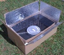 Two Cardboard Boxes and Some Paint = a $6 Solar Cooker