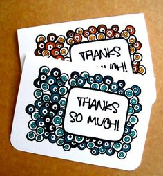 Free Printable Thank You Cards...so cute!!!