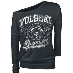 "Volbeat Langarmshirt, Frauen ""Rise from Denmark"" schwarz • EMP"