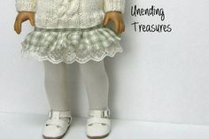 18 inch doll clothes AG doll clothes ivory tights by Unendingtreasures on Etsy