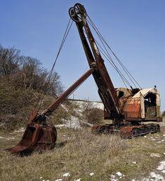 Abandoned Vehicles, Abandoned Cars, Bucyrus Erie, Heavy Equipment, Shovel, Fire Trucks, Construction, Landscape, Places