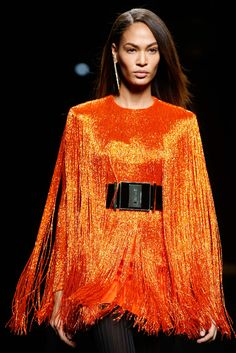 A slim slice of agate is the new must-have earring. Balmain - Fall 2015 Ready-to-Wear
