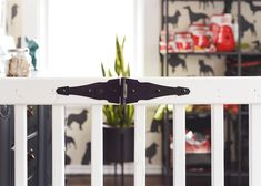Dog Gate - The Most Effective Techniques For Looking After Your Pup Diy Dog Gate, Diy Gate, Diy Baby Gate, Baby Gates, Extra Wide Dog Gates, Extra Wide Baby Gate, Brick Porch, Front Porch, Fenced In Yard